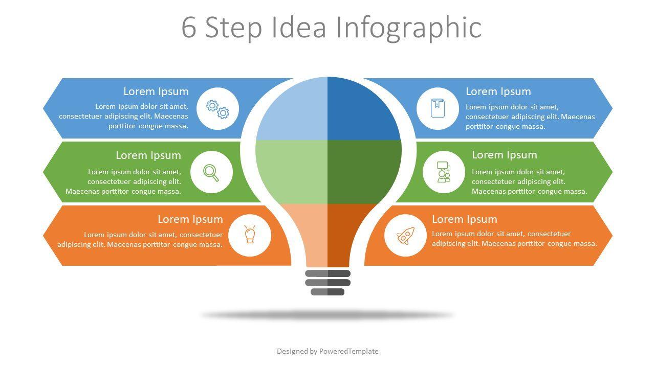 6 Step Idea Infographic, 07907, Infographics — PoweredTemplate.com