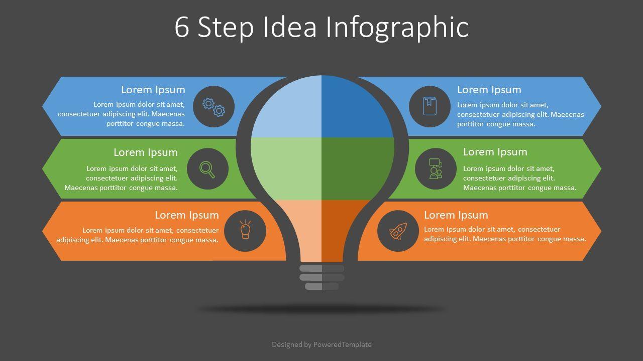 6 Step Idea Infographic, Slide 2, 07907, Infographics — PoweredTemplate.com