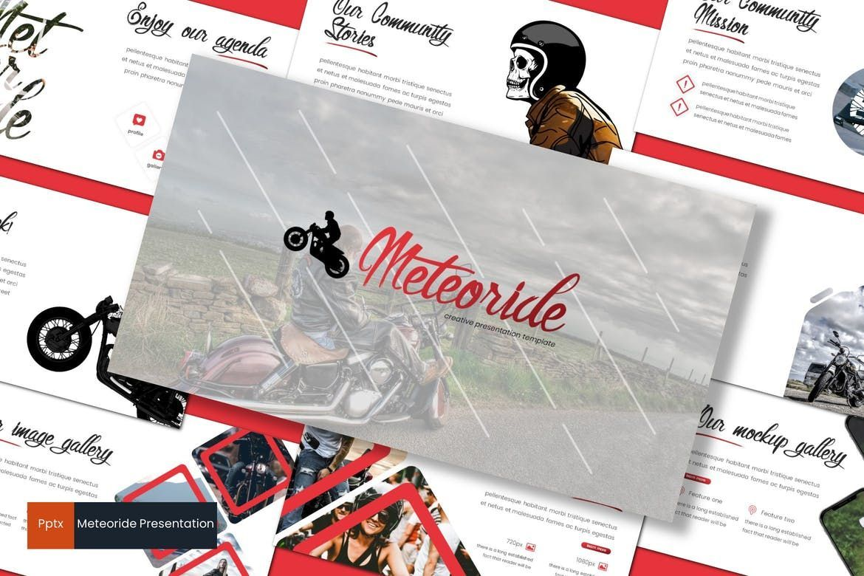 Meteoride - PowerPoint Template, 07909, Presentation Templates — PoweredTemplate.com