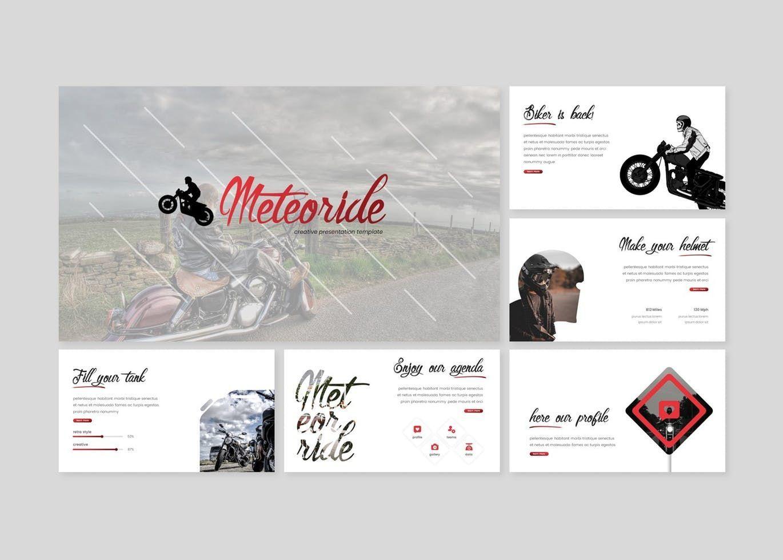 Meteoride - PowerPoint Template, Slide 2, 07909, Presentation Templates — PoweredTemplate.com