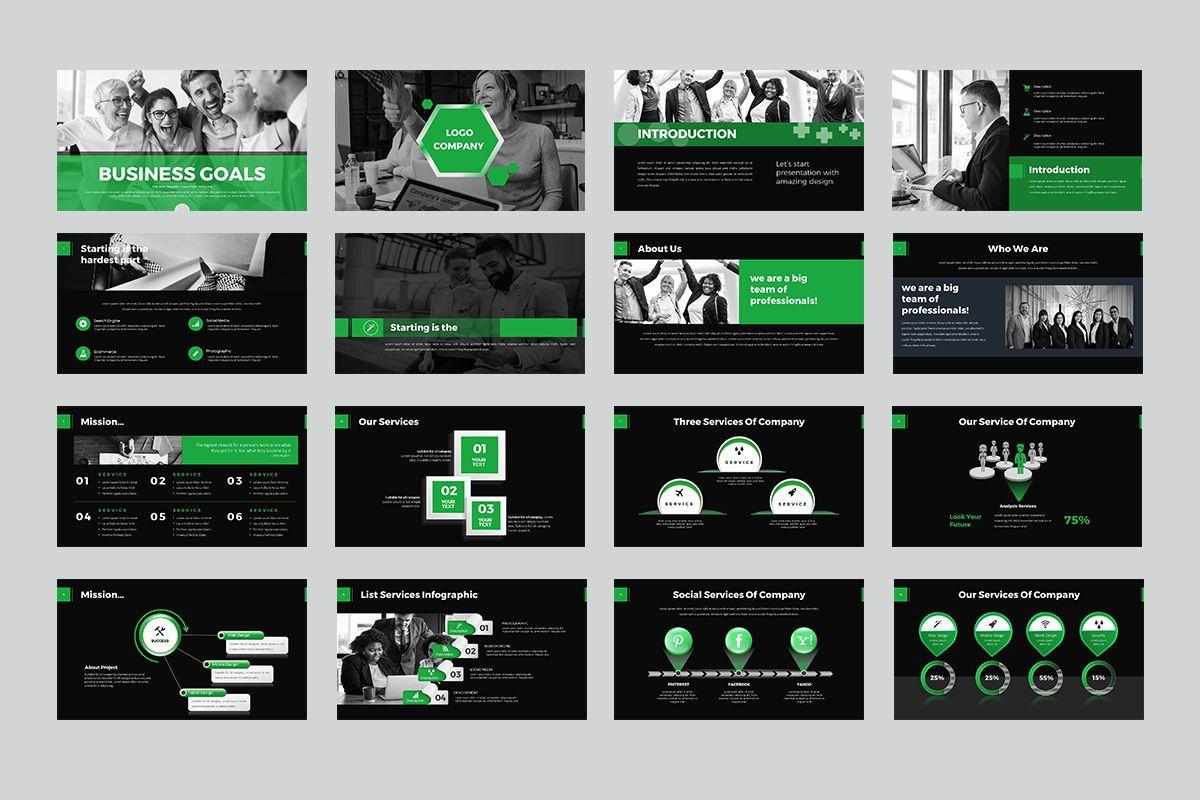 Business Goals PowerPoint, Slide 2, 07914, Business Models — PoweredTemplate.com