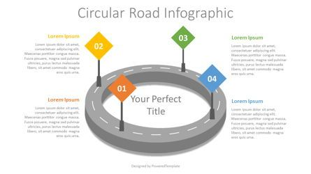 Process Diagrams: Circular Road Infographic #07916