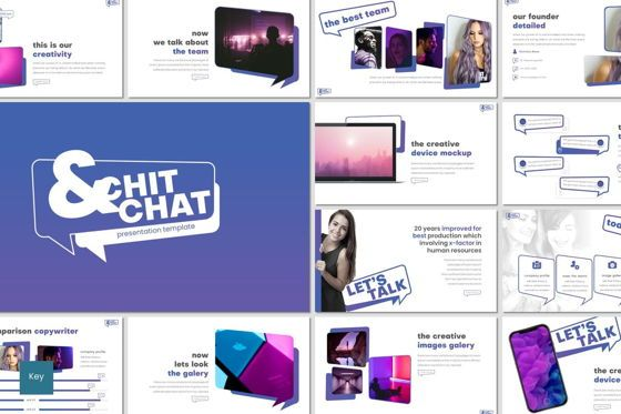 Presentation Templates: Chit Chat - Keynote Template #07917