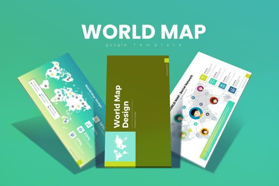 Business Models: World Map Google Slides #07924