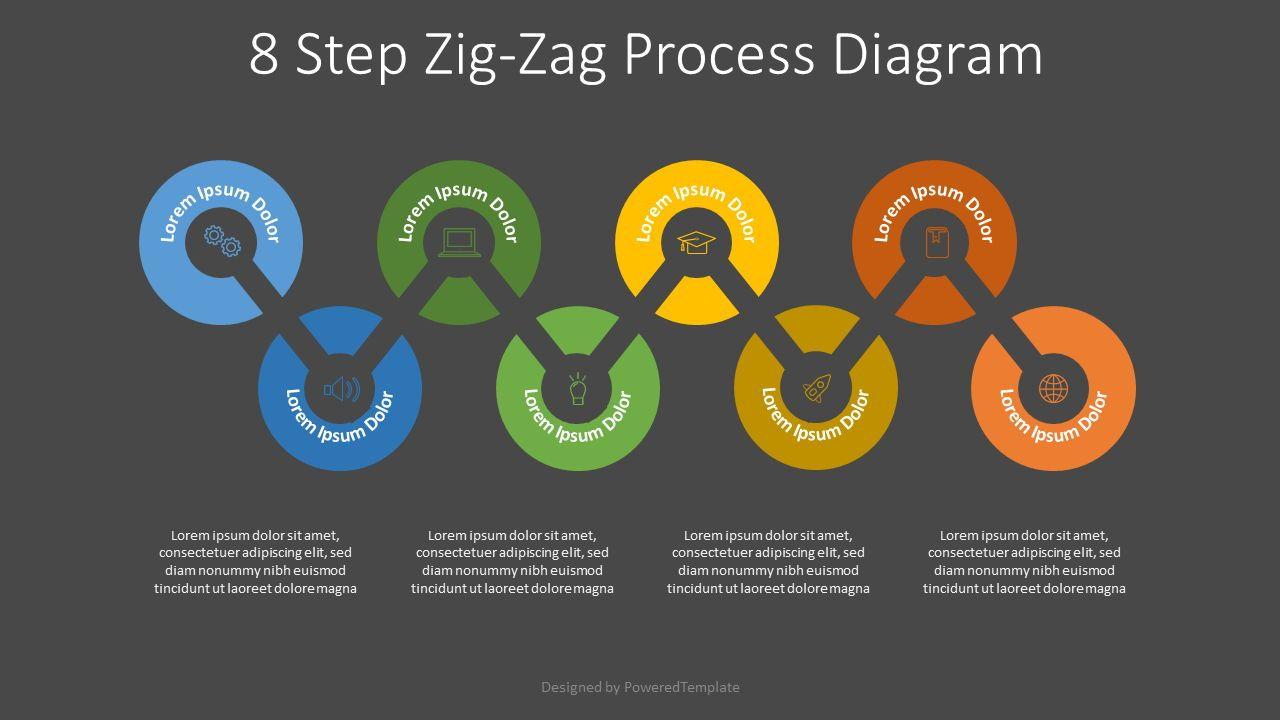8 Step Zigzag Process Diagram, Slide 2, 07927, Timelines & Calendars — PoweredTemplate.com