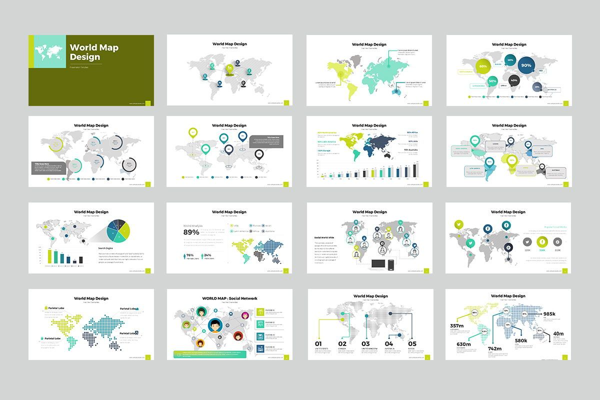 World Map PowerPoint Presentation, Slide 2, 07930, Business Models — PoweredTemplate.com
