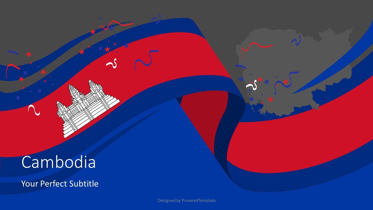 Festive Flag of Cambodia Cover Slide, Slide 2, 07931, Presentation Templates — PoweredTemplate.com