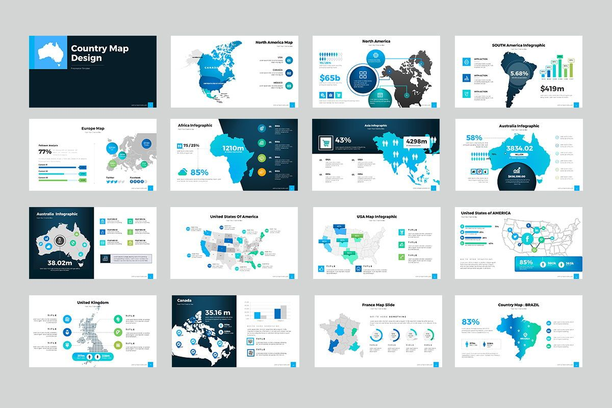 Country Map Google Slides, Slide 2, 07932, Business Models — PoweredTemplate.com