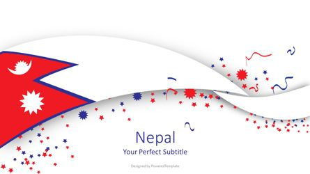 Presentation Templates: Nepal National Flag Cover Slide #07934