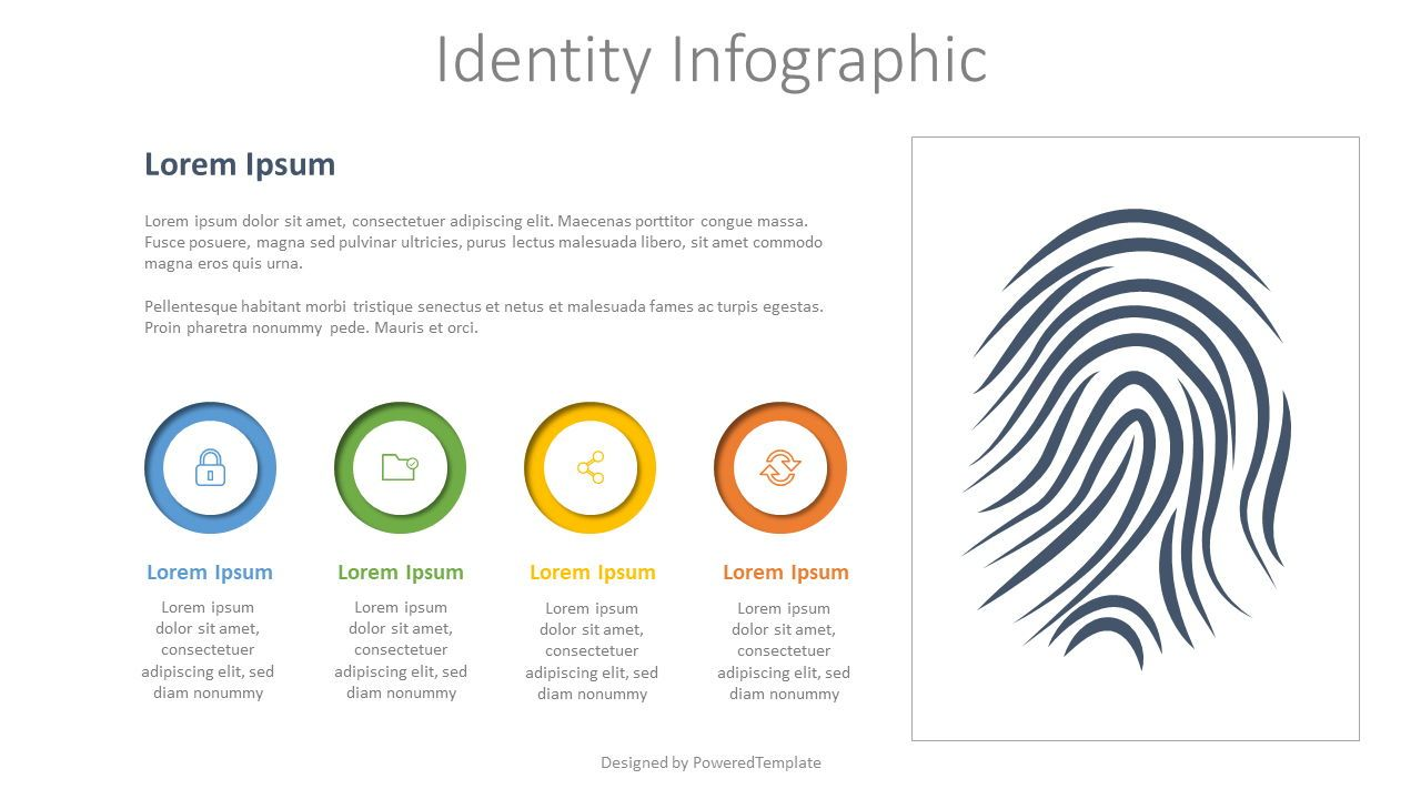 Identity Infographic with 3 Options, 07935, Infographics — PoweredTemplate.com