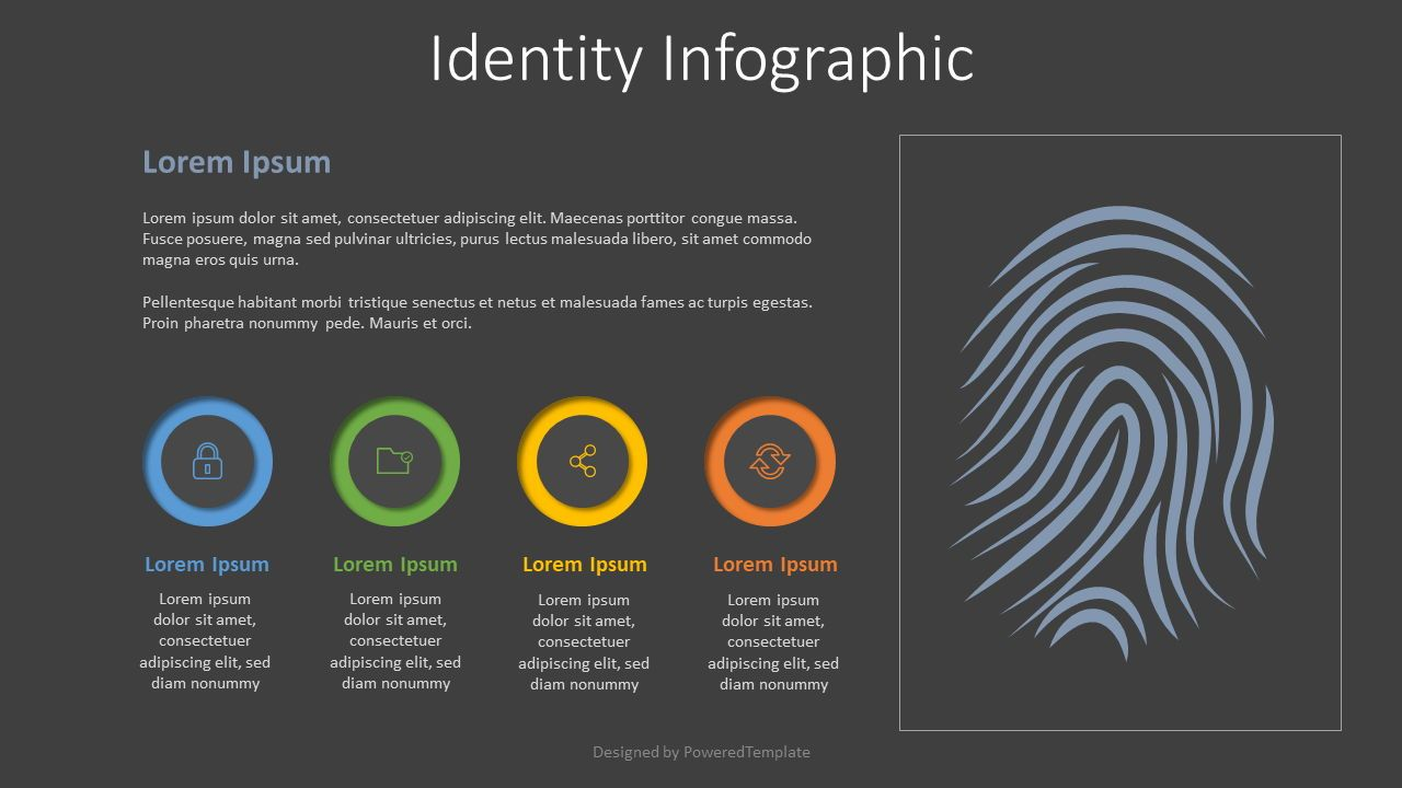 Identity Infographic with 3 Options, Slide 2, 07935, Infographics — PoweredTemplate.com