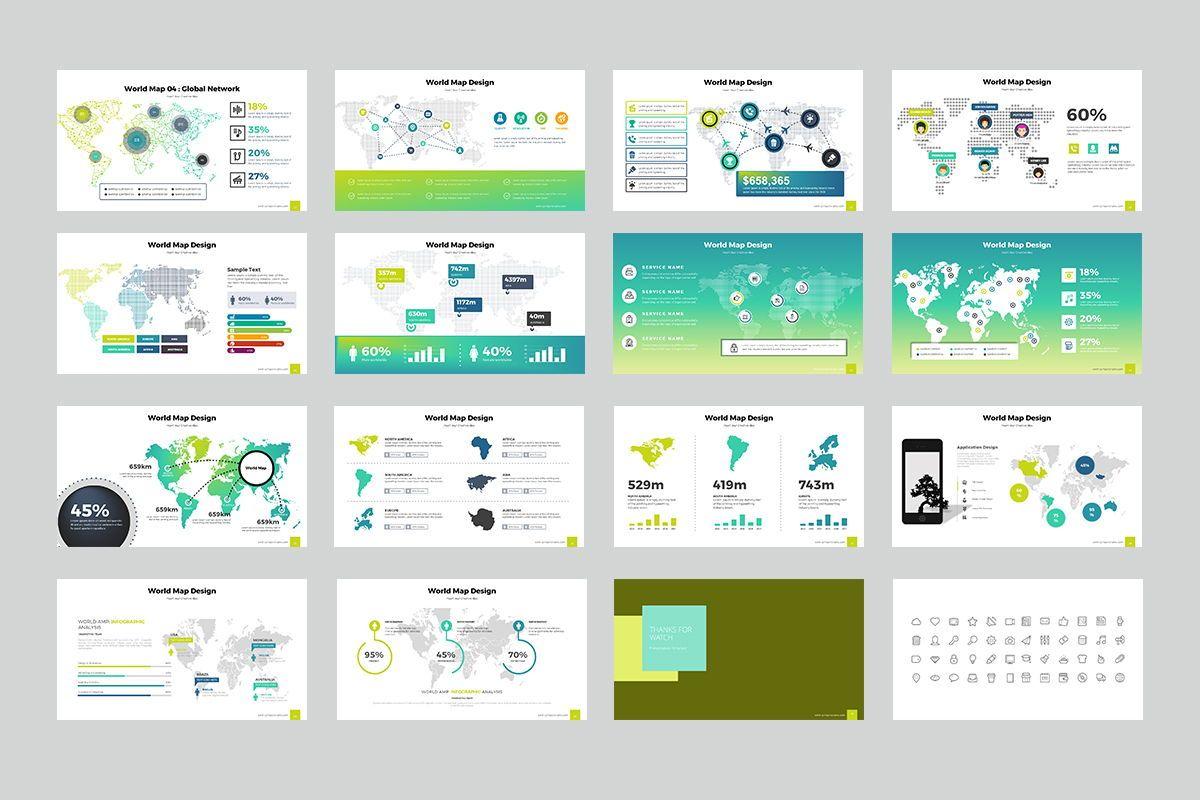 World Map Keynote Templates, Slide 3, 07936, Business Models — PoweredTemplate.com