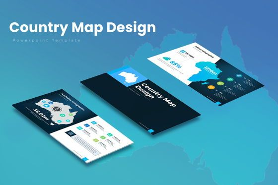 Business Models: Country Map PowerPoint Presentation #07937