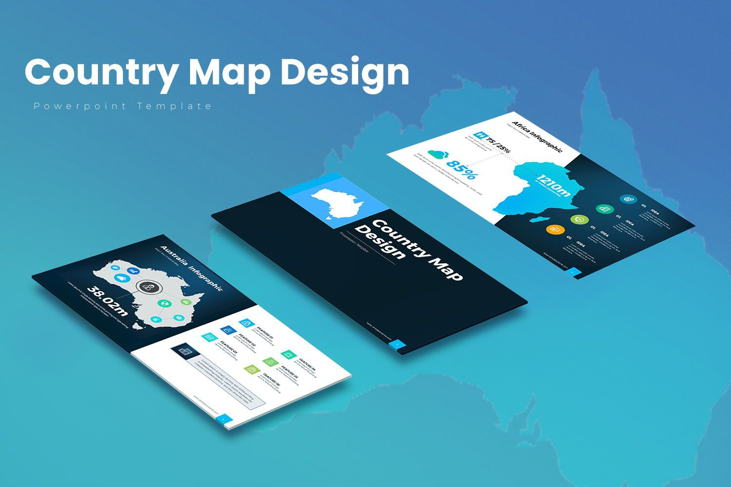Country Map PowerPoint Presentation, 07937, Business Models — PoweredTemplate.com