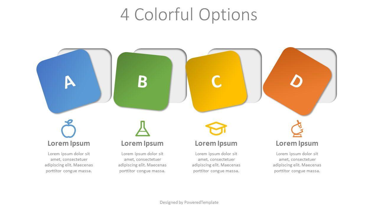 4 Colorful Squares as Options, Slide 2, 07939, Infographics — PoweredTemplate.com