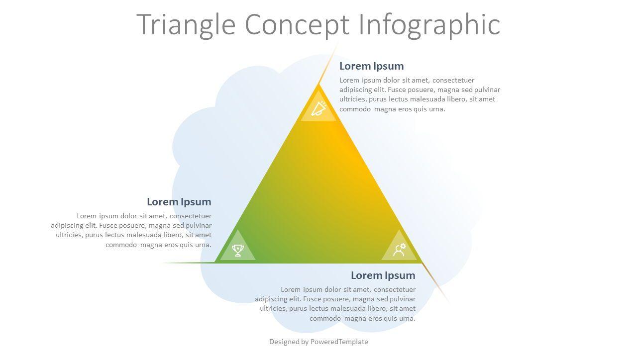Triangle Concept Infographic, 07940, Infographics — PoweredTemplate.com