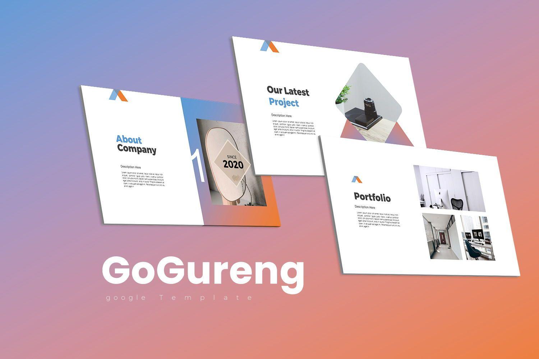 GoGureng Google Slide Templates, 07946, Business Models — PoweredTemplate.com
