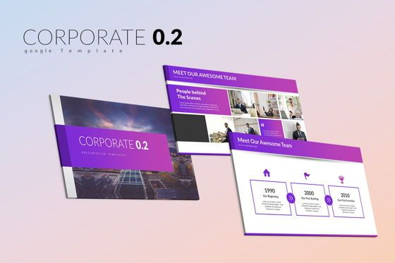 Business Models: Corporate 0 2 Google Slide Templates #07952