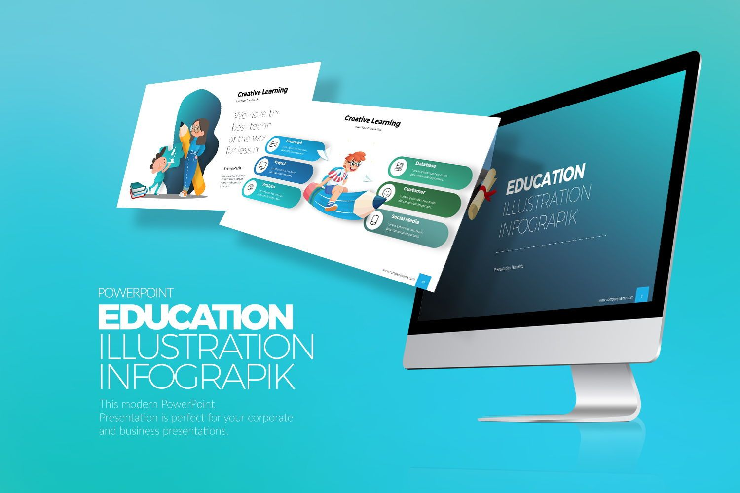 Education Infographic PowerPoint, 07953, Business Models — PoweredTemplate.com