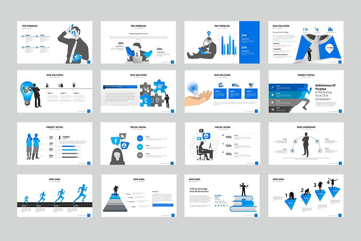 Business Silhouette GoogleSlide Templates, Slide 3, 07958, Business Models — PoweredTemplate.com