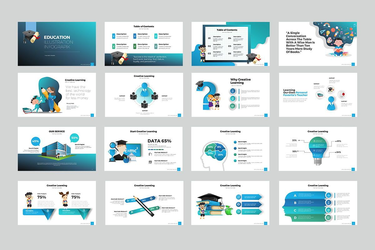 Education Infographic Keynote Templates, Slide 2, 07962, Business Models — PoweredTemplate.com
