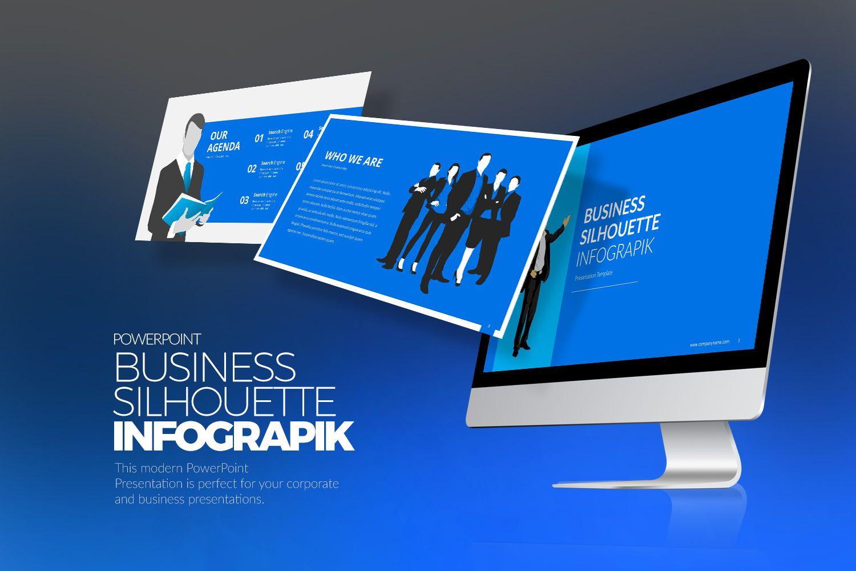 Business Silhouette Keynote Templates, 07964, Business Models — PoweredTemplate.com