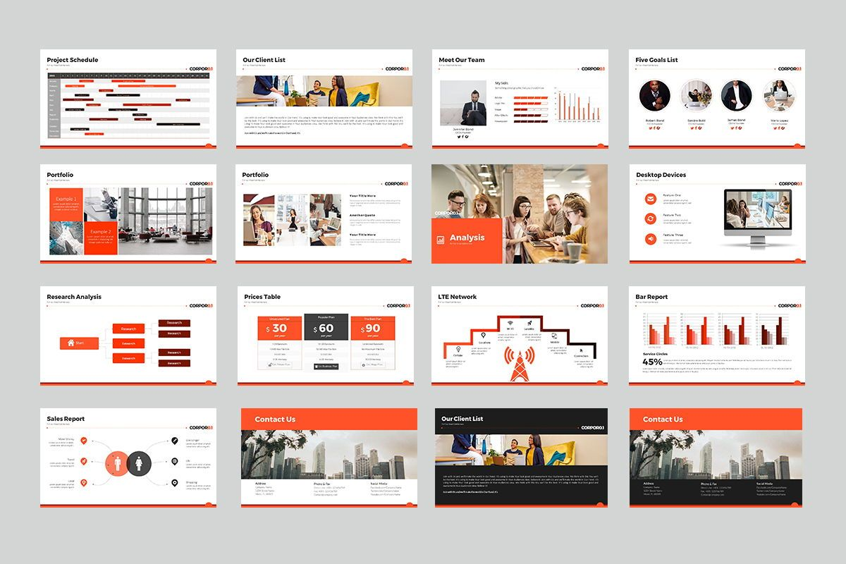 Corpor 0 1 Google Slide Templates, Slide 3, 07966, Business Models — PoweredTemplate.com