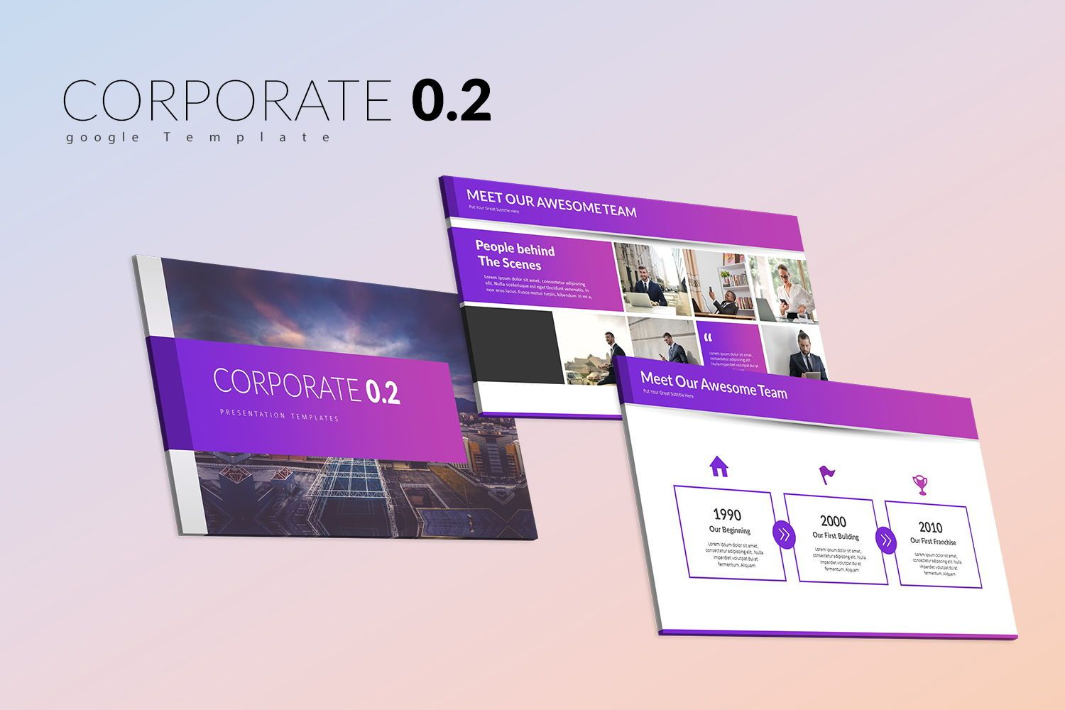 Corporate 0 2 Keynote Templates, 07967, Business Models — PoweredTemplate.com