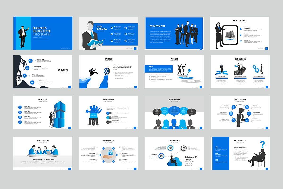 Business Silhouette Powerpoint Presentation, Slide 2, 07970, Business Models — PoweredTemplate.com