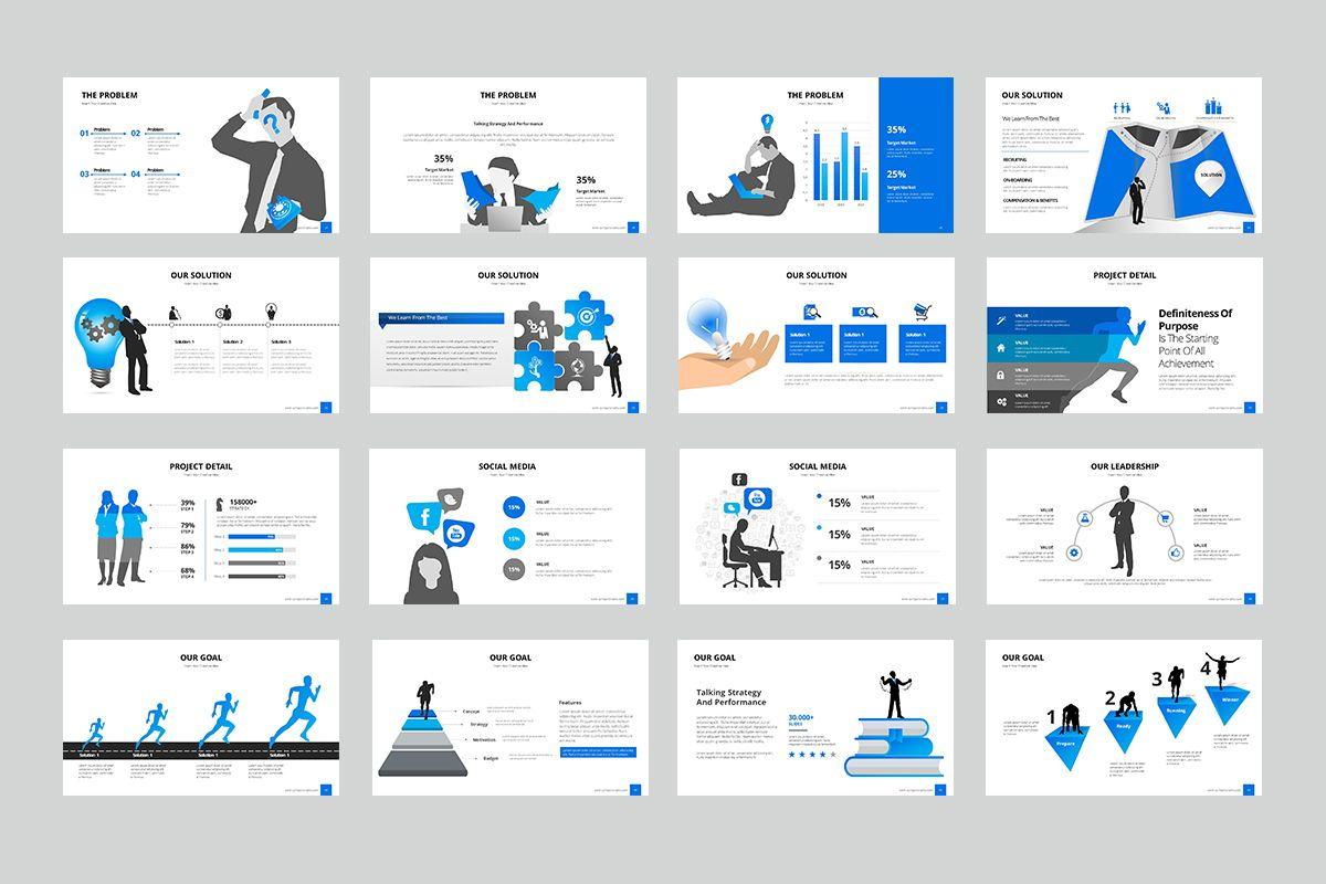 Business Silhouette Powerpoint Presentation, Slide 3, 07970, Business Models — PoweredTemplate.com
