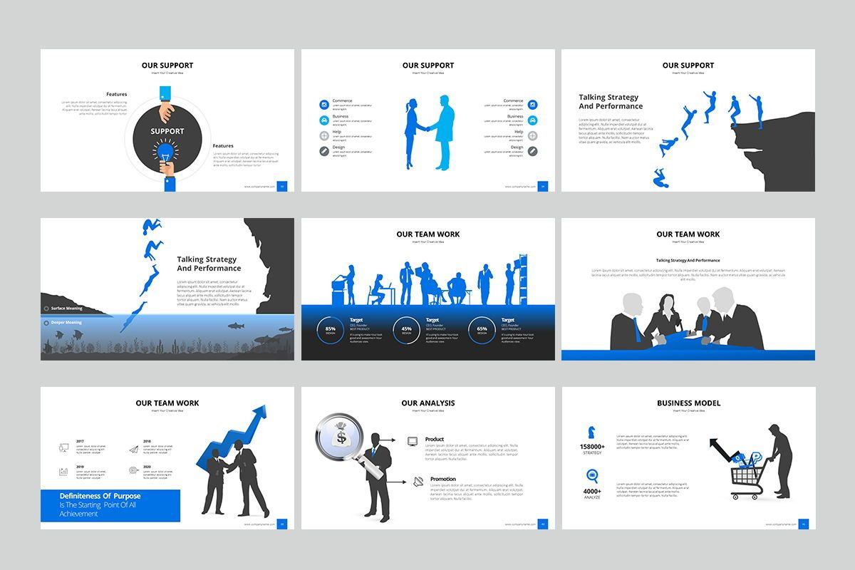 Business Silhouette Powerpoint Presentation, Slide 4, 07970, Business Models — PoweredTemplate.com