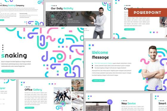 Presentation Templates: Snaking - Powerpoint Template #07971