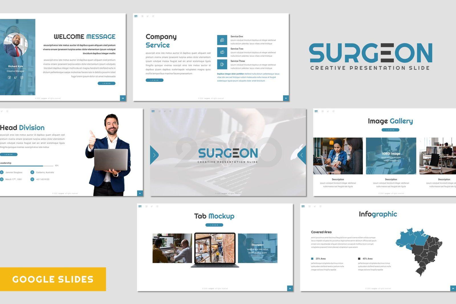 Surgeon - Google Slides Template, 07972, Presentation Templates — PoweredTemplate.com