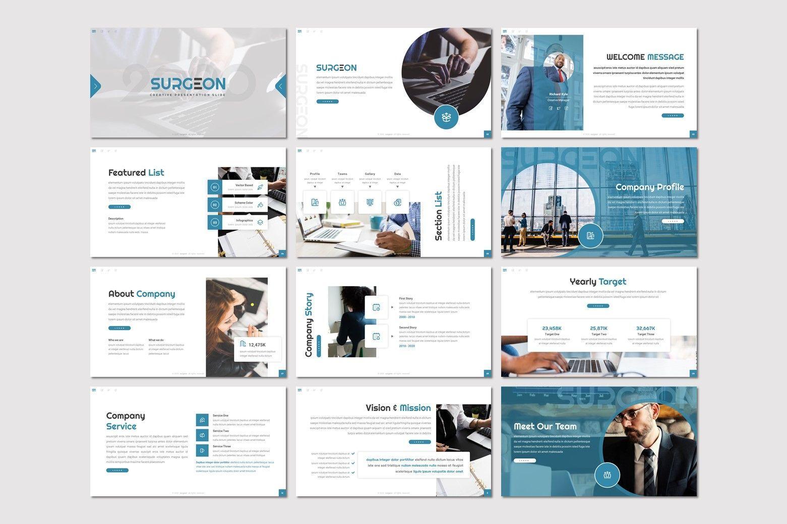 Surgeon - Google Slides Template, Slide 2, 07972, Presentation Templates — PoweredTemplate.com