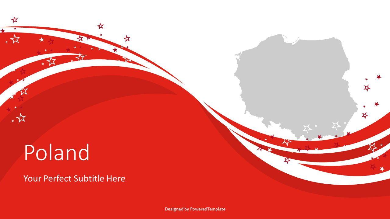 Poland State Flag Festive Cover Slide, 07973, Presentation Templates — PoweredTemplate.com