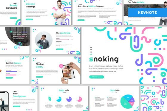 Presentation Templates: Snaking - Keynote Template #07975