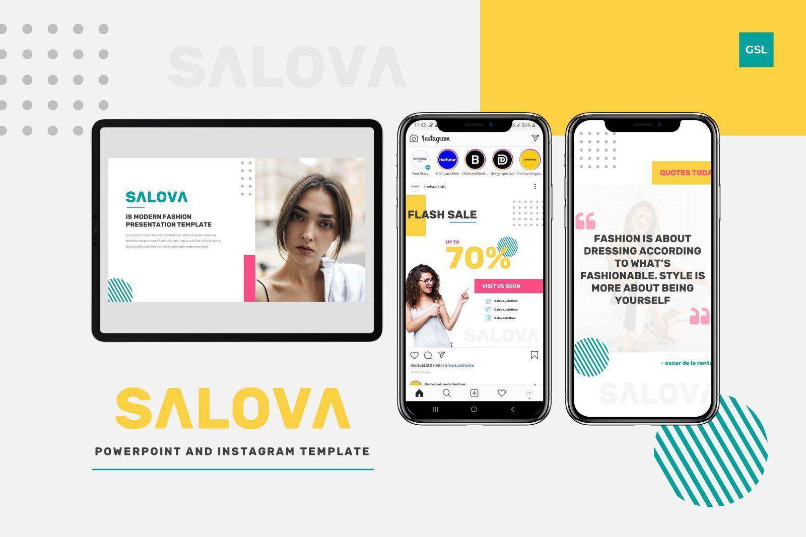 Salova - Google Slides Template, 07981, Presentation Templates — PoweredTemplate.com