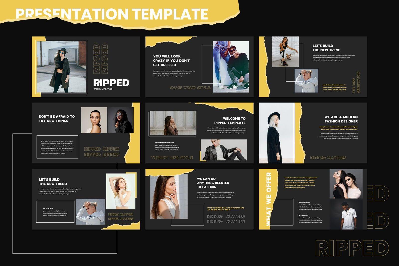 Riped - Keynote Template, Slide 2, 07982, Presentation Templates — PoweredTemplate.com