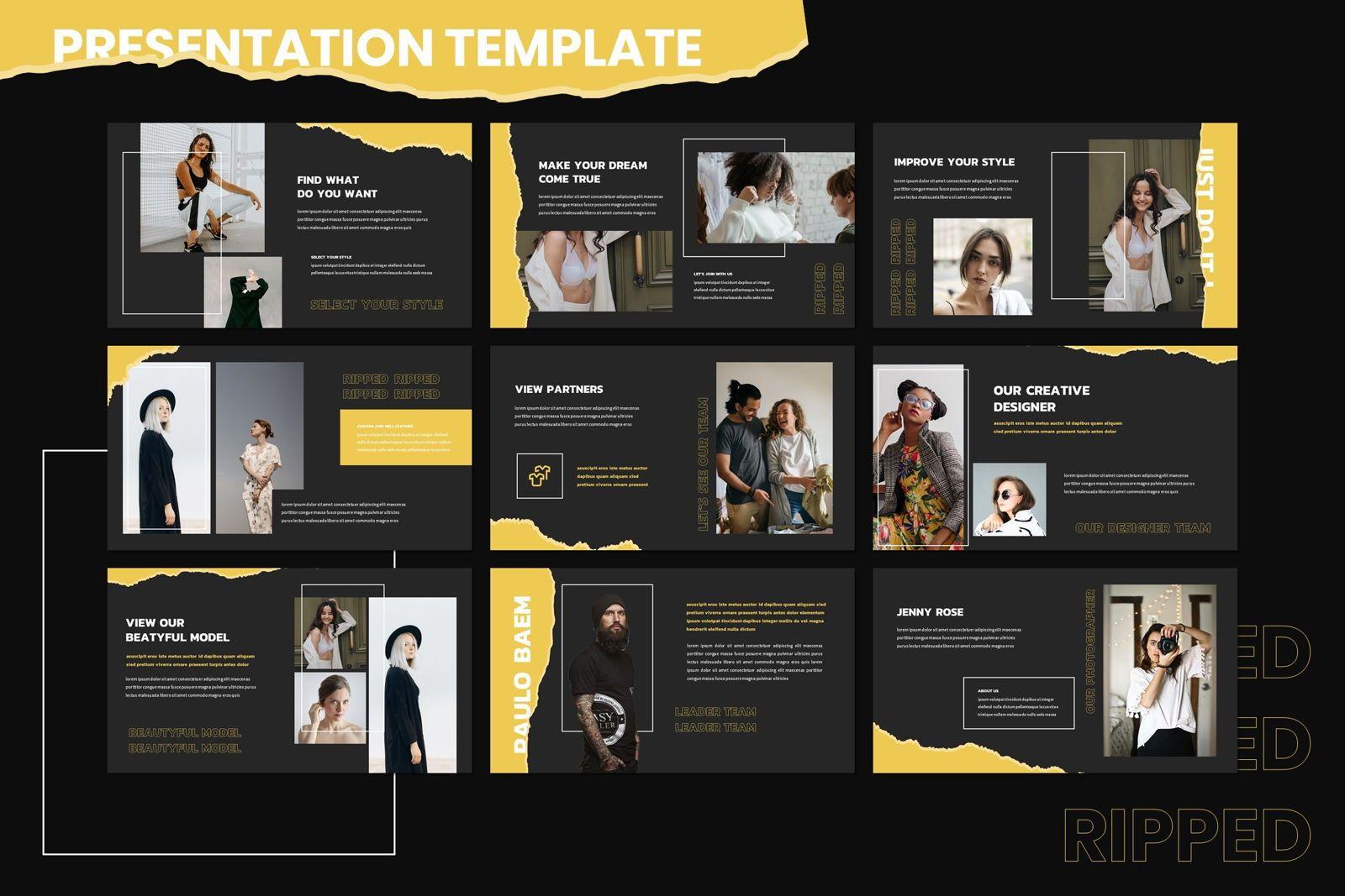 Riped - Keynote Template, Slide 3, 07982, Presentation Templates — PoweredTemplate.com