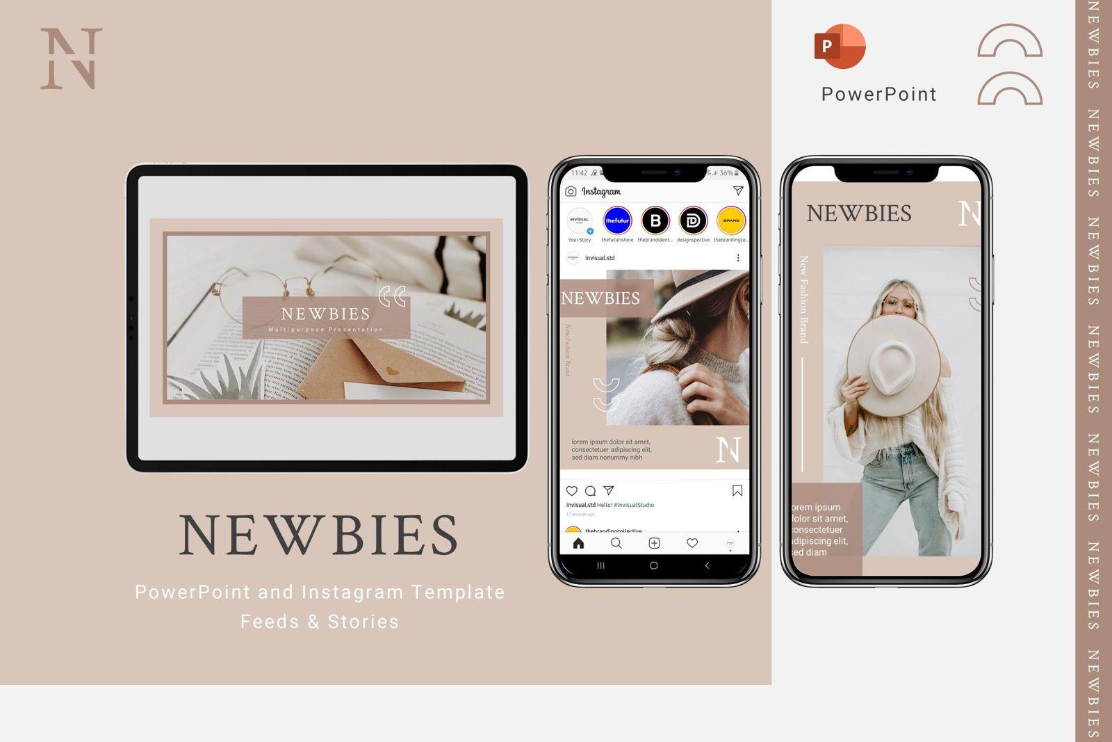 Newbies - Powerpoint Template, 07989, Presentation Templates — PoweredTemplate.com