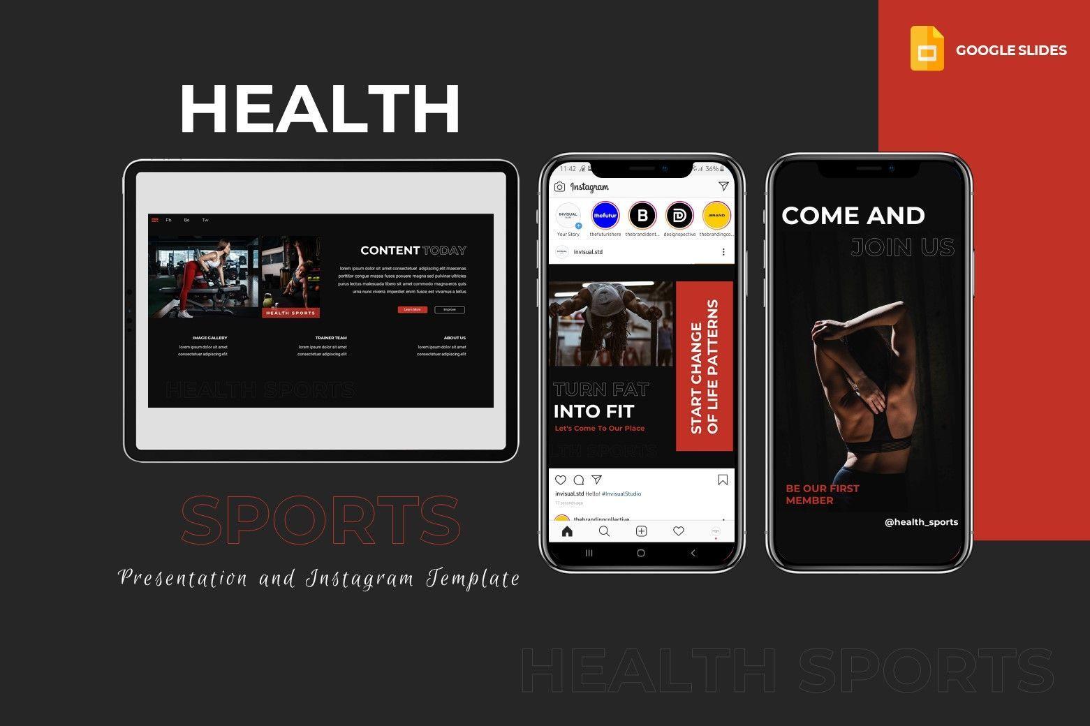 Sport - Google Slides Template, 07994, Presentation Templates — PoweredTemplate.com