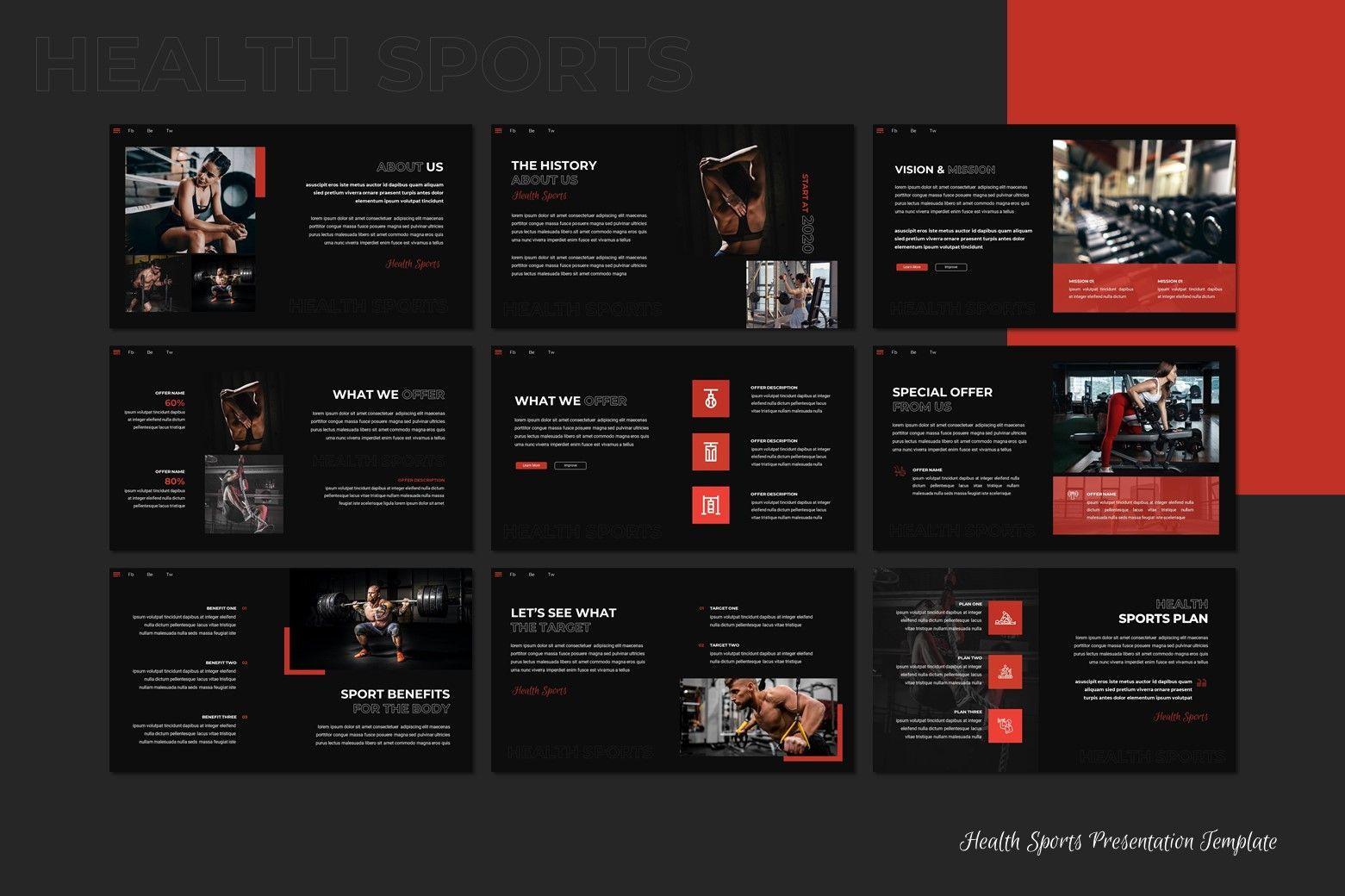 Sport - Google Slides Template, Slide 3, 07994, Presentation Templates — PoweredTemplate.com