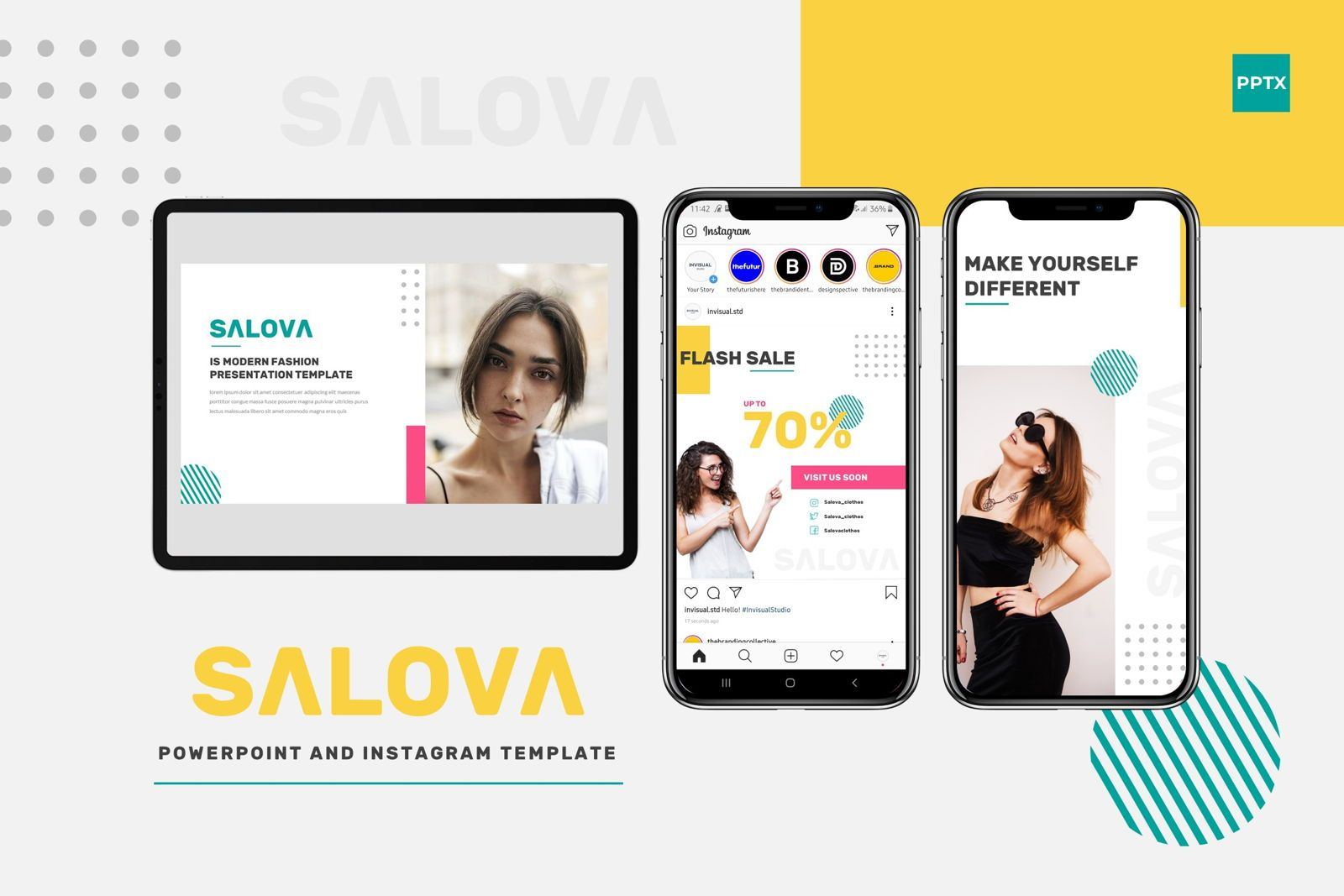 Salova - Powerpoint Template, 07995, Presentation Templates — PoweredTemplate.com