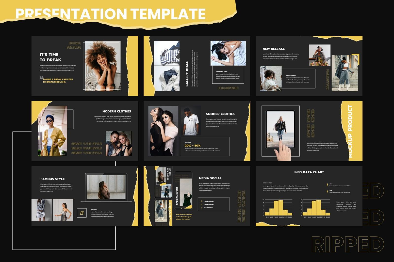 Riped - Powerpoint Template, Slide 4, 07996, Presentation Templates — PoweredTemplate.com