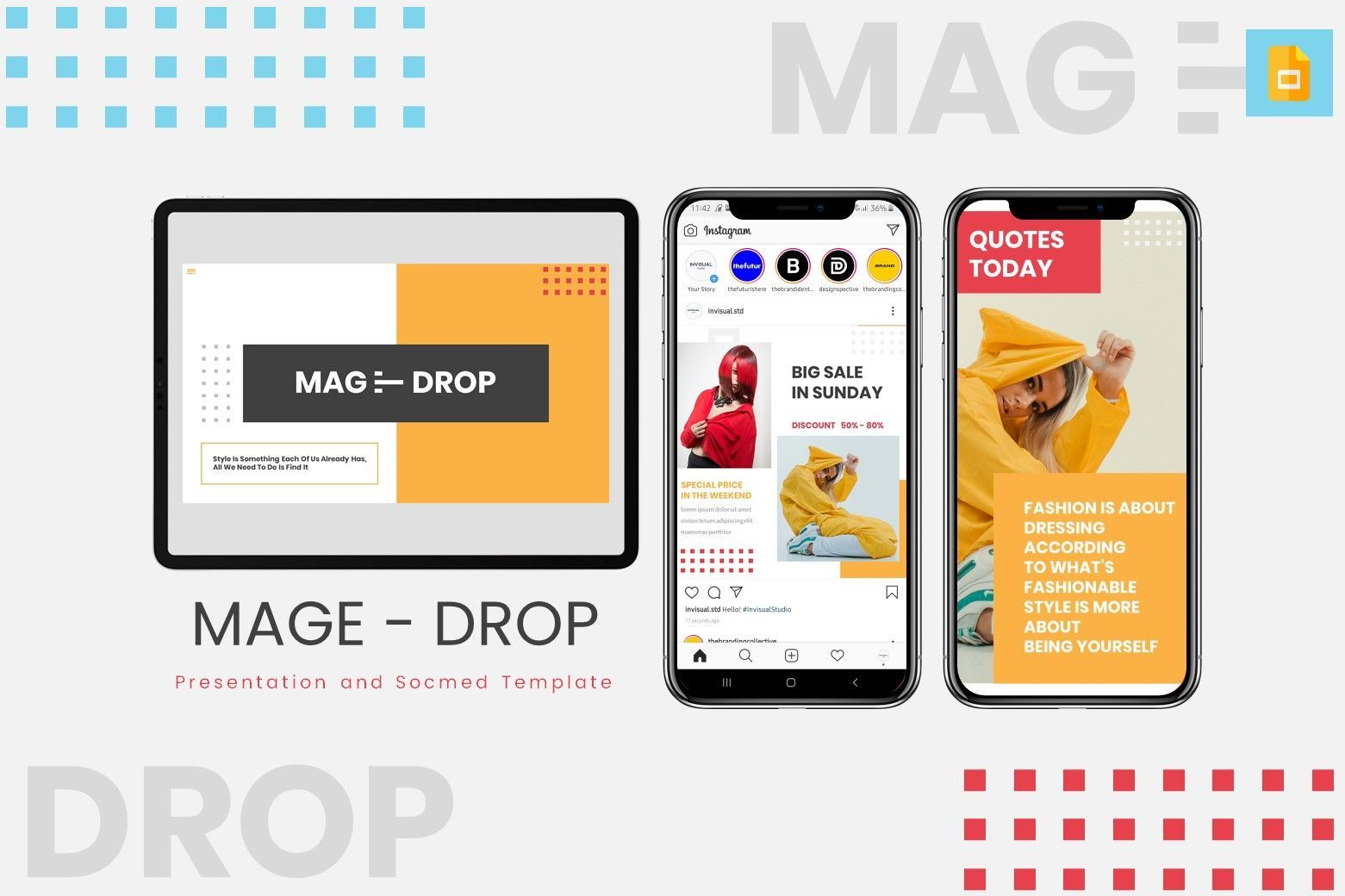 Mage Drop - Google Slides Template, 07997, Presentation Templates — PoweredTemplate.com