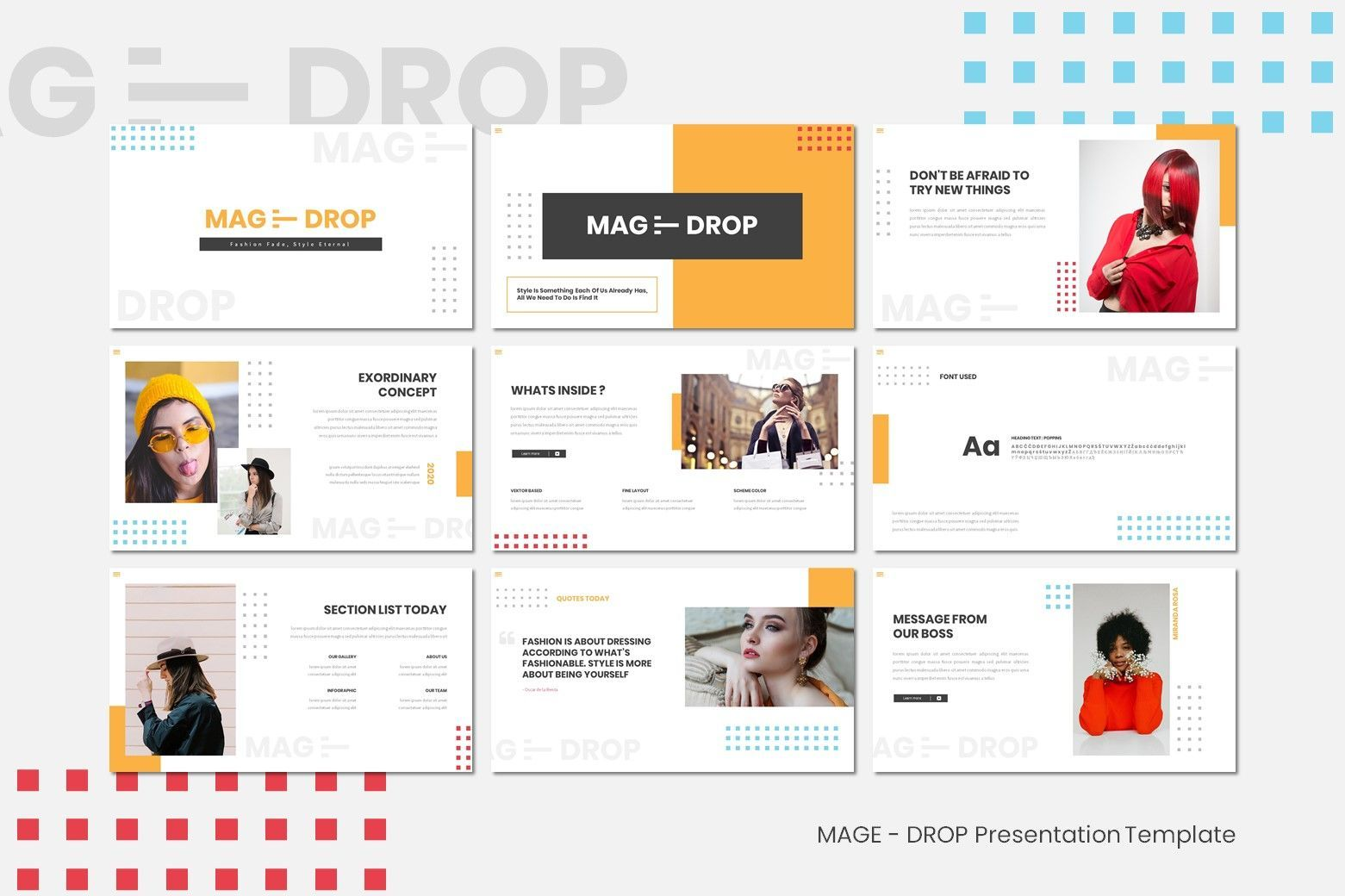 Mage Drop - Google Slides Template, Slide 2, 07997, Presentation Templates — PoweredTemplate.com