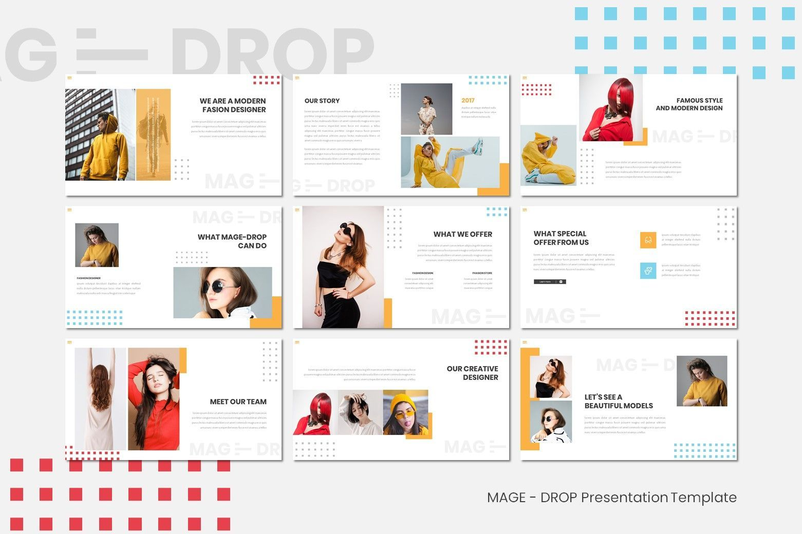 Mage Drop - Google Slides Template, Slide 3, 07997, Presentation Templates — PoweredTemplate.com