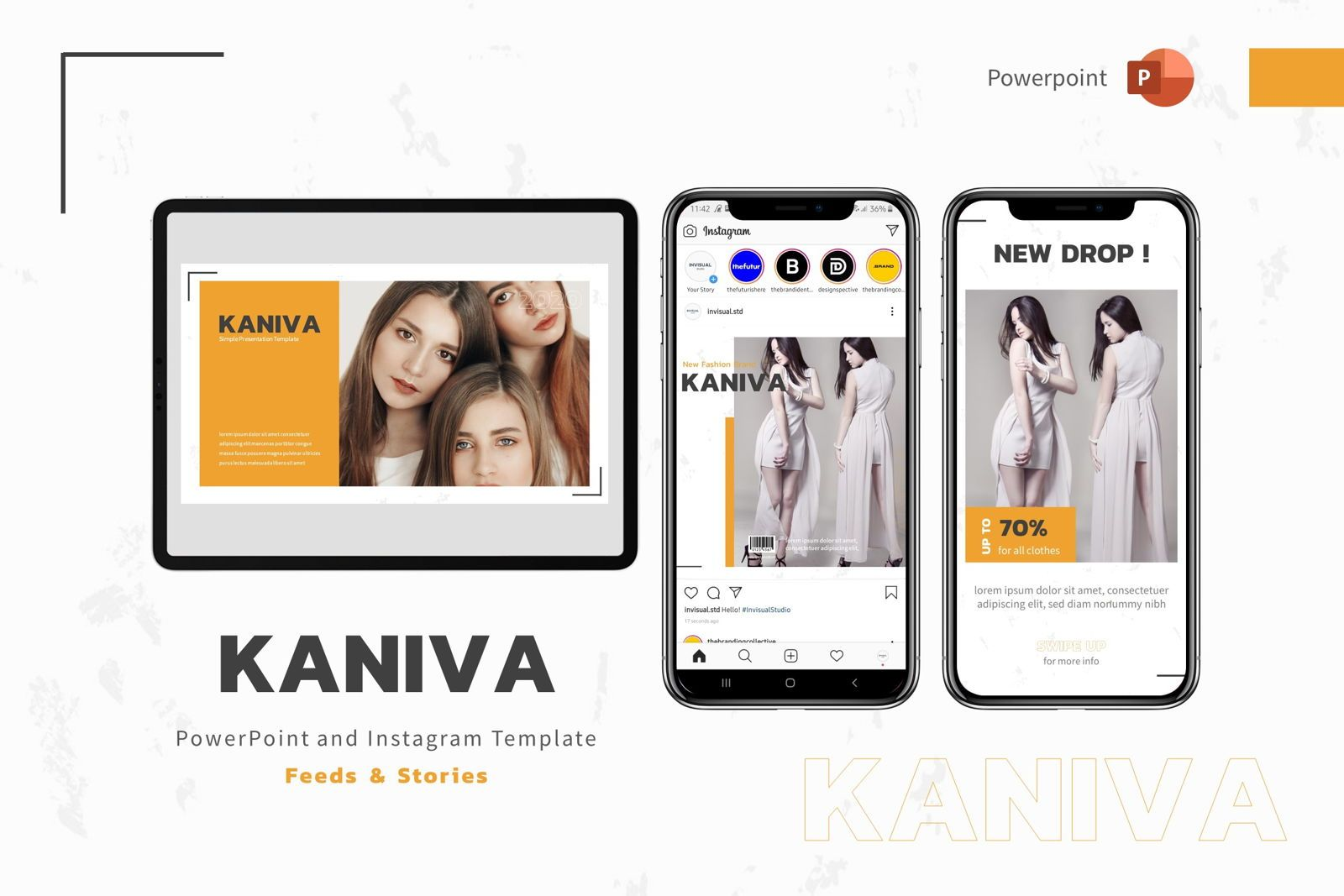 Kaniva - Powerpoint Template, 08001, Presentation Templates — PoweredTemplate.com