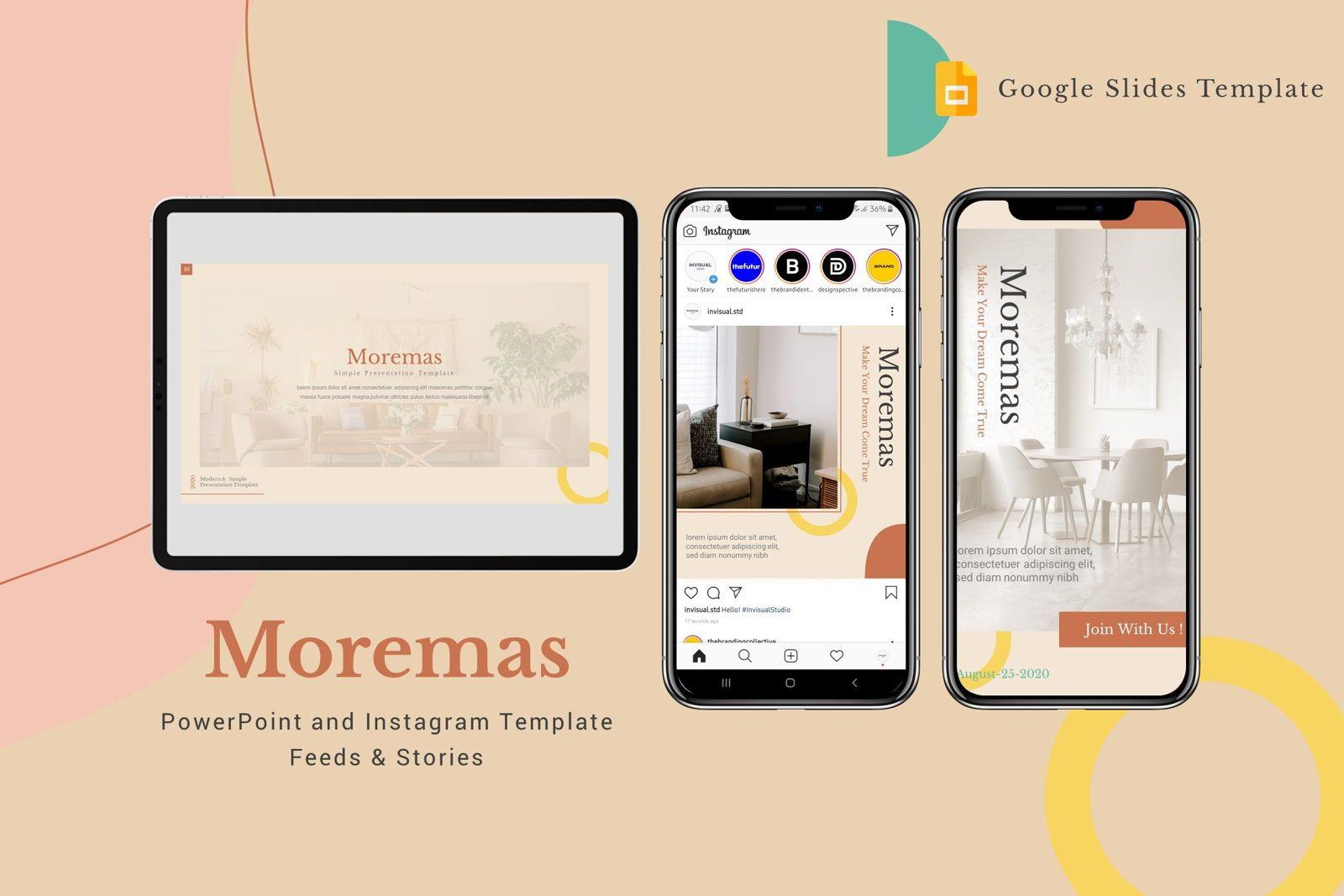Moremas - Google Slides Template, 08002, Presentation Templates — PoweredTemplate.com