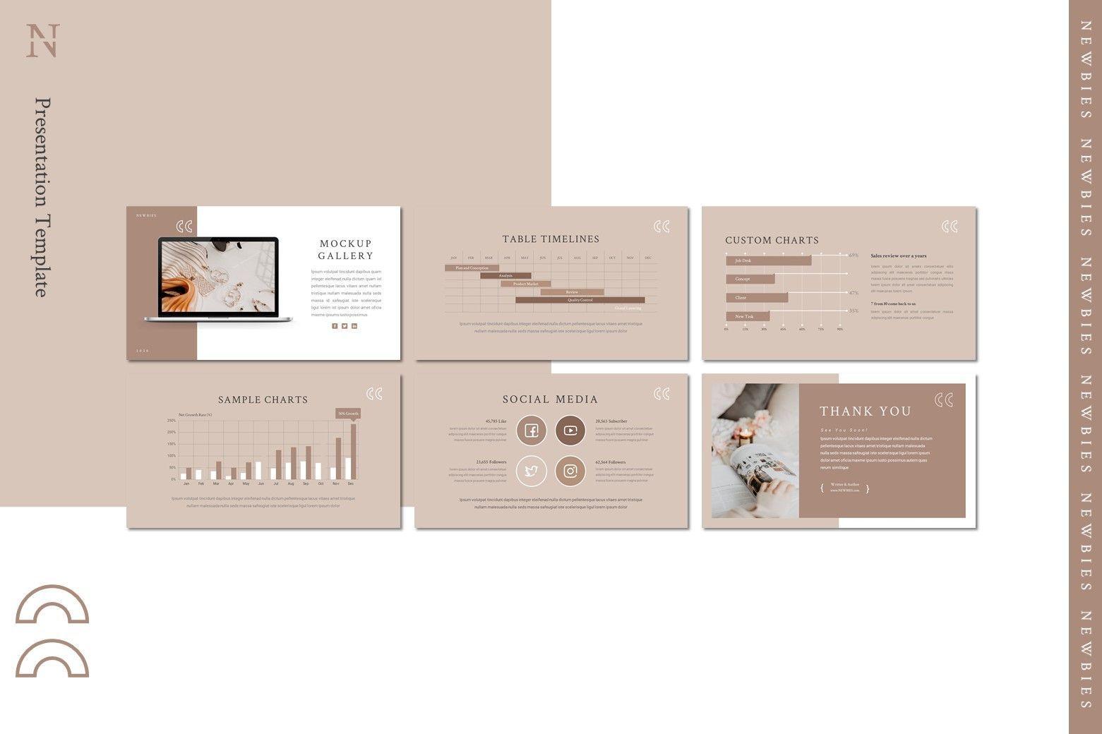 Newbies - Keynote Template, Slide 4, 08003, Presentation Templates — PoweredTemplate.com